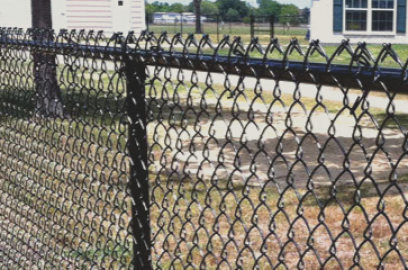 Chain link fences are very affordable and one of the most popular choices in the Tulsa area. Chain link fences come in a variety of colors with the different coatings you can apply to the fence. You can also get a chain link fence for privacy as well by inserting vinyl planks in the the fence.
