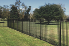 Ornamental fences come in wrought iron, steel, and aluminum. Steel is a very popular choice, but can be expensive, while aluminum is the more affordable option. Both choices have that wrought iron look that most are looking for. These fences are great for adding value to your home and and little to no maintenance required.