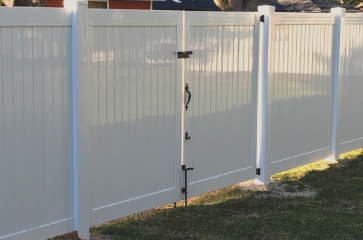 We install high quality vinyl fencing. You will love our vinyl fence products because they are very low maintenance, will last a long time, and come in a variety of styles and colors. Vinyl fences are a great choice to add to our home or business because they provide privacy, security, and add value to your home.